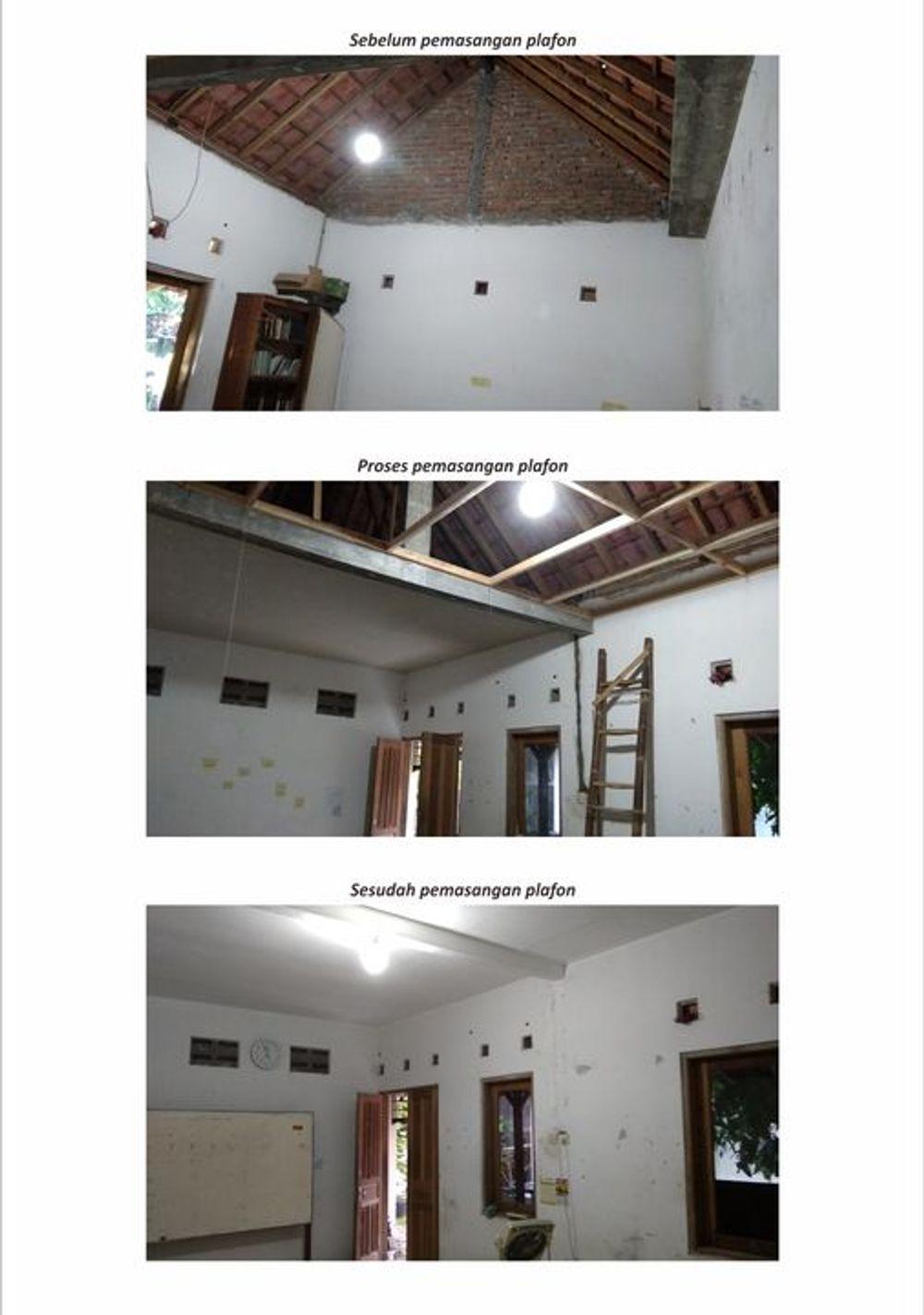 Foto Proses Pemasangan Plafon