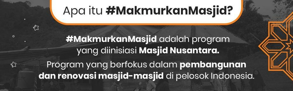 #MakmurkanMasjid
