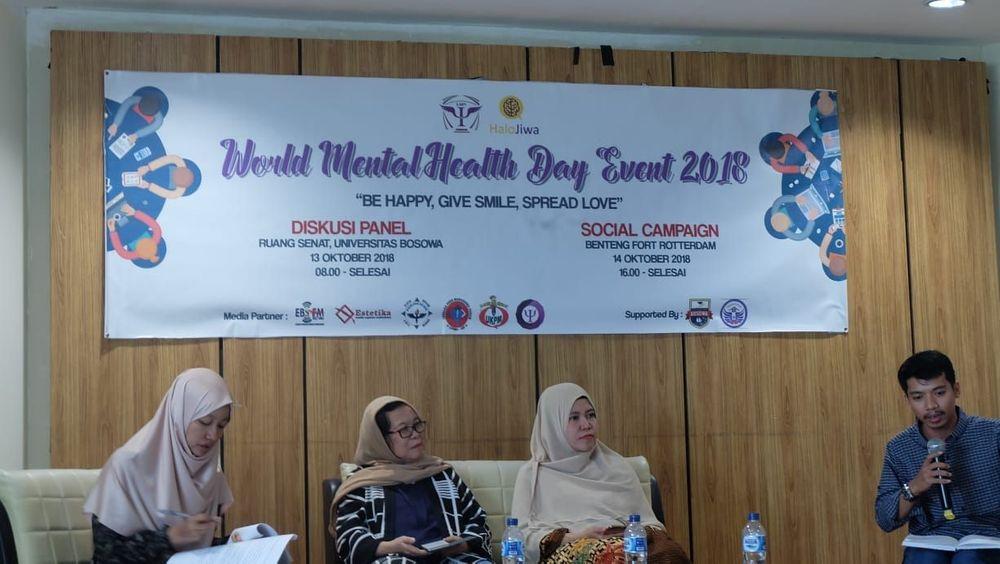 Diskusi panel Halo Jiwa dan ILMPI Wil VI dalam rangka hari kesehatan mental dunia 2018