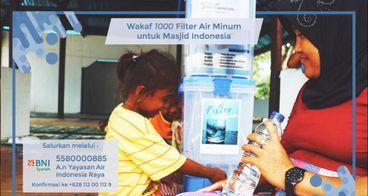 Wakaf 1000 Filter Air Minum untuk Masjid