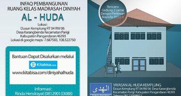 Bantu Pembangunan Madrasah Diniyah AL HUDA