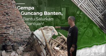 DARURAT! Bantu Korban Gempa Banten 6,9 SR!