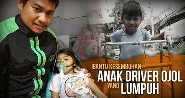 Bantu Firly, Anak Driver Ojol yang Lumpuh Kakinya