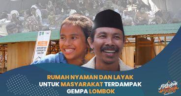 Sambut Ramadhan, Dirikan Rumah untuk Warga Lombok