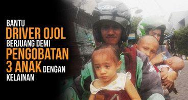 Bantu Ismail, Driver Ojol, Biayai Pengobatan Anak