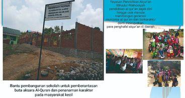 Bantu pembangunan sekolah al qur'an utk masyarakat