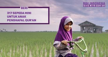 Wakaf Sepeda Ngaji untuk Anak Penghafal Al Qur'an