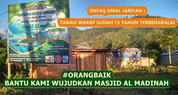 Bantu Masjid AL MADINAH Kabupaten Tolitoli SULTENG