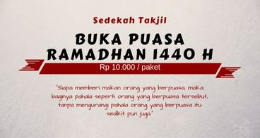Sedekah Takjil Ramadhan 1440 H