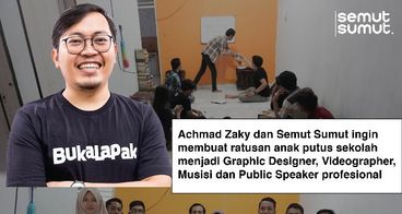 Bersama Achmad Zaky, asah skill anak putus sekolah