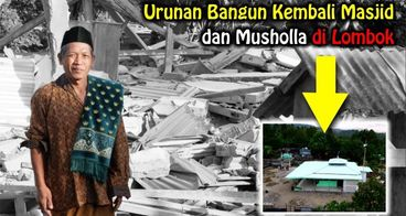 Bangun Kembali Masjid dan Musholla di Lombok