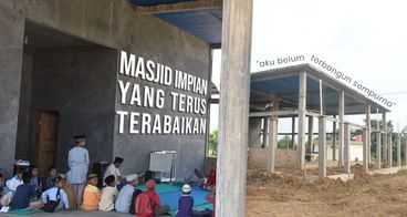 Bantu Pembangunan Masjid Satu-satunya Way Tuba