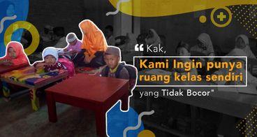 Pembangunan Terhenti, Bantu Sekolah di Desa Petani