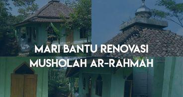 Bantu Renovasi Musholah Arahmah Yang Sudah Lapuk