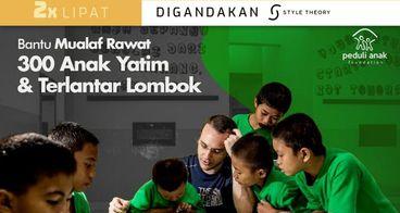 Bantu Chaim Rawat 300 Yatim Terlantar Lombok