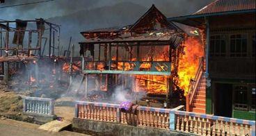 Bantu Korban Kebakaran Semende, Sumatera Selatan