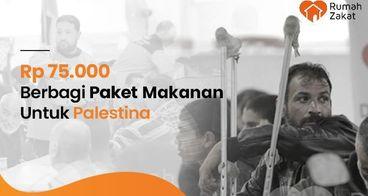 Sedekah Bantuan Makanan Bagi Warga Palestina