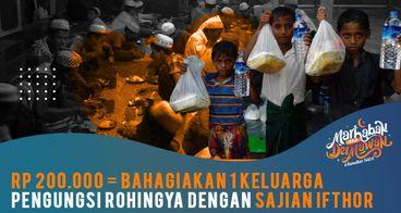 Paket Buka Puasa untuk 420.000 Pengungsi Rohingya