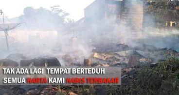 Bantu Korban Kebakaran di Sagaranten Sukabumi