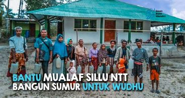 BANTU MUALAF SILLU NTT BANGUN SUMUR BOR MASJID