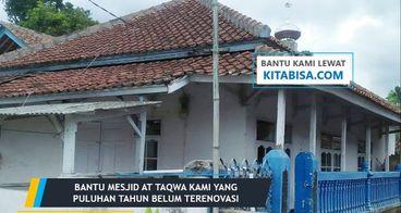 (Penting) Bantu Renovasi Mesjid Jami AT-TAQWA Kami