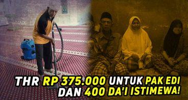 Kado THR Lebaran untuk Marbot dan Imam Masjid