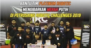Bantu Tim Platinum Robotic Mengibarkan Merah Putih