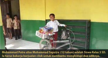 Bantu Muhammad Putra Ringankan Beban