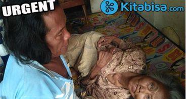 Bantu Edi yang Cacat Kaki Rawat Ibu Lumpuh