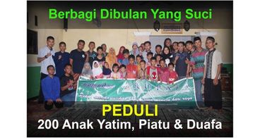 Bantu peduli 200 anak yatim, piatu & duafa