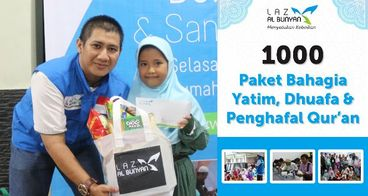 1000 Paket Bahagia Yatim, Dhuafa & Penghafal Quran