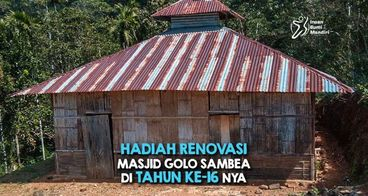 Bantu Upgrade Bangunan Masjid Golo Sambea NTT