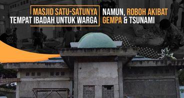 Infaq Bangun Kembali Masjid Ar-Rahman di Donggala