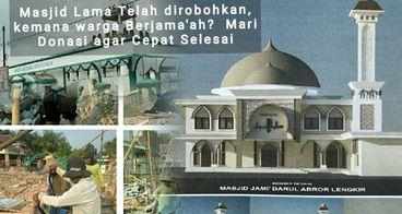 Bantu biaya Bangun  Masjid Darul Abror  Lengkir