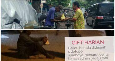 Bantu Donasi memberi Nasi bungkus Dhuafa surabaya