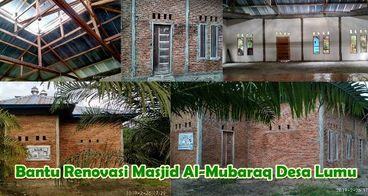 Bantu plester tehel dan plafon masjid Al-Mubaraq m