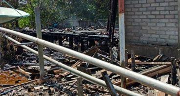 Peduli Musibah Kebakaran Rumah Haqi di Pulauburung