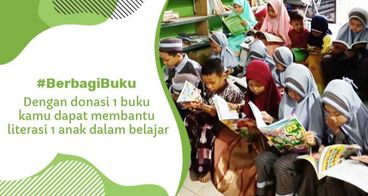 Berbagi Buku untuk Anak Yatim