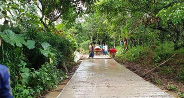 Pembangunan Jalan di Desa Majau, Pandeglang-BANTEN