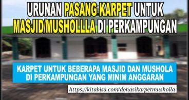 Donasi Karpet Untuk Musholla