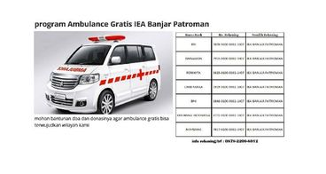 program Ambulance Gratis IEA Banjar Patroman