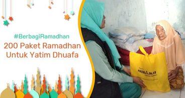 Gerakan #BerbagiRamadan untuk Yatim dan Dhuafa