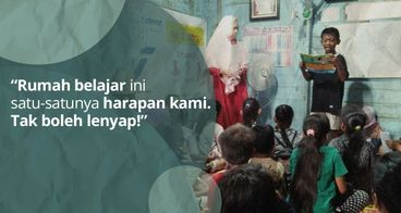 Hidupi Rumah Belajar Anak-Anak Desa Rampa