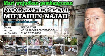 Pembangunan Pesantren Miftahun Najah
