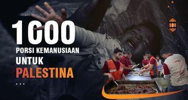 10.000 PORSI KEMANUSIAAN UNTUK PALESTINA