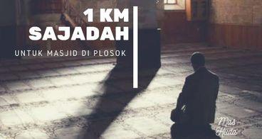1 KM Sajadah Untuk Masjid di pelosok