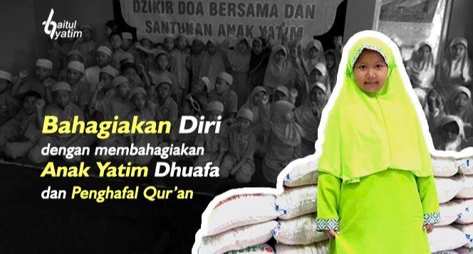 Infaq Beras Untuk Kebutuhan Yatim&Penghafal; Quran
