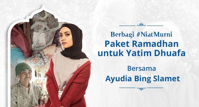 #NiatMurni Bagikan Paket Ramadhan Yatim Dhuafa
