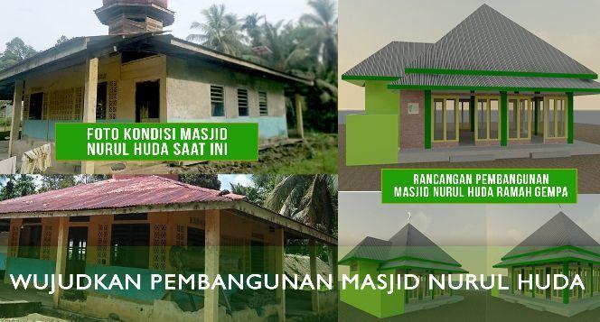 Bantu Pembangunan Masjid Nurul Huda di Tubeket