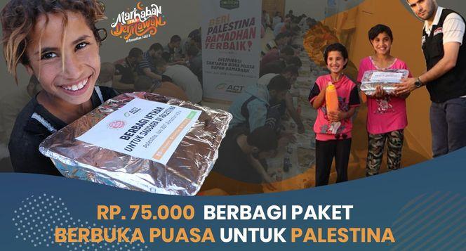 Sedekah Paket Ifthor bagi 420.000 Warga Palestina